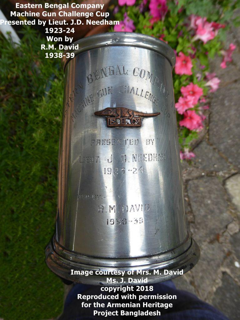 Eastern Bengal Company Machine Gun Challenge Cup. Won by Armenian, Ruben David.