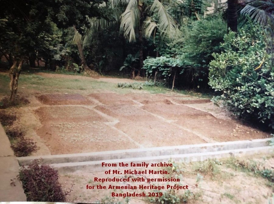 Mr. Martin kept a herb and vegetable garden in the grounds of the Church