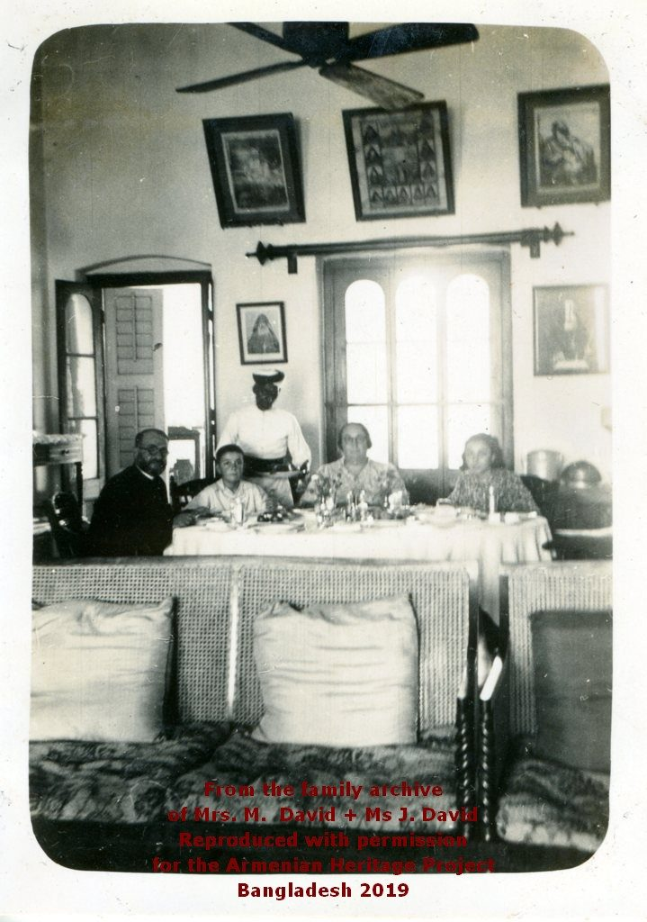 Ter Bagrat, Aris, Tighoui and Nellie family dinner in the Parsonage