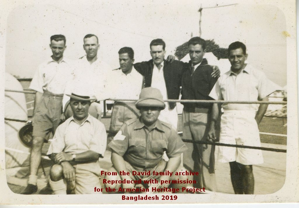 Ruben David and others from the Eastern Bengal Company, Dacca.