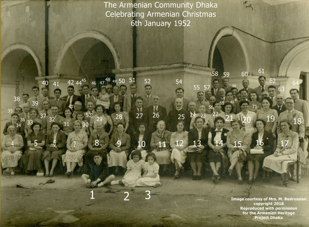 Armenian Christmas in Dhaka 6th January 1952