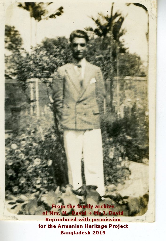 Ruben David standing in the church garden