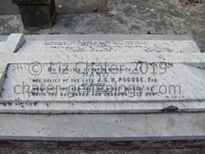 Mary Pogose grave, Armenian Holy Church of Nazareth, Calcutta. Image courtesy of Liz Chater.