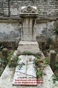Grave of Joakim Gregory Nicholas Pogose, Narinda Cemetery. Image courtesy of Rajib Rj.