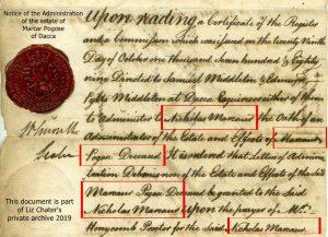 Administration of estate of Marcar Pogose 17 Aug 1790