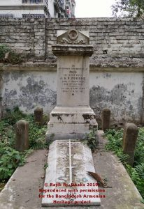 Grave of Paul Pogose Narinda Cemetery. Image courtesy of Rajib Rj.